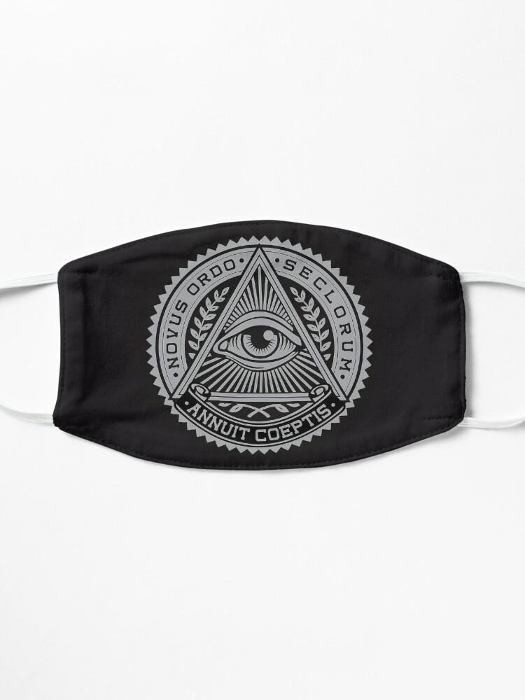 Alternate view of Illuminati Logo EYE | Covid mask Mask