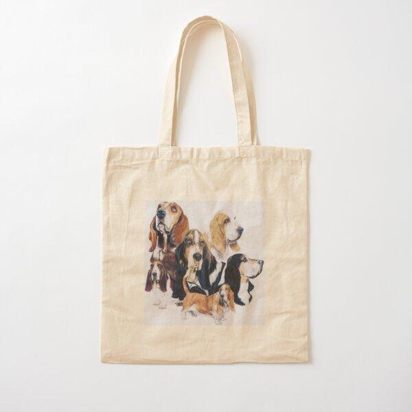 Basset Hound Montage Cotton Tote Bag