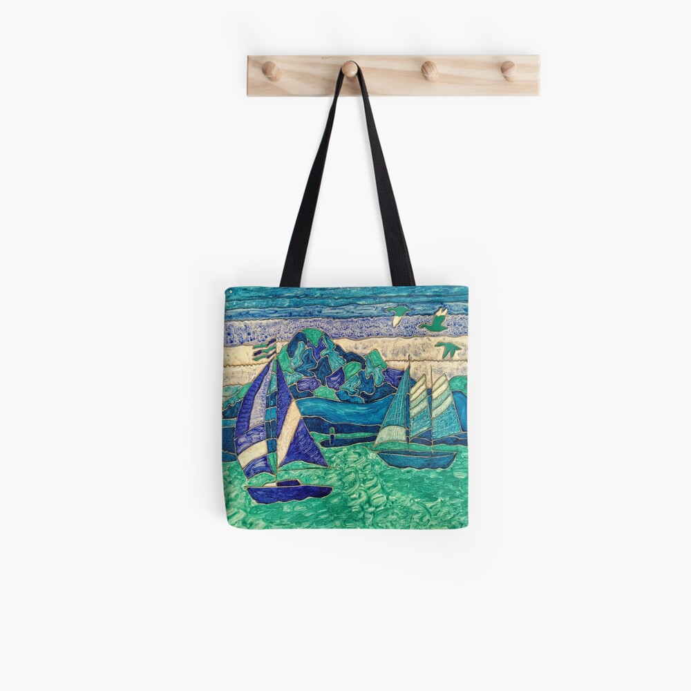 CUTE SAIL BOATS FUNNY QUOTE  Tote Bag