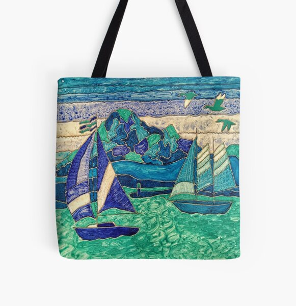 CUTE SAIL BOATS FUNNY QUOTE  All Over Print Tote Bag
