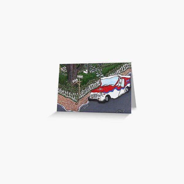 Postal Truck at Highwood by Dawn Langstroth ©2014 Greeting Card