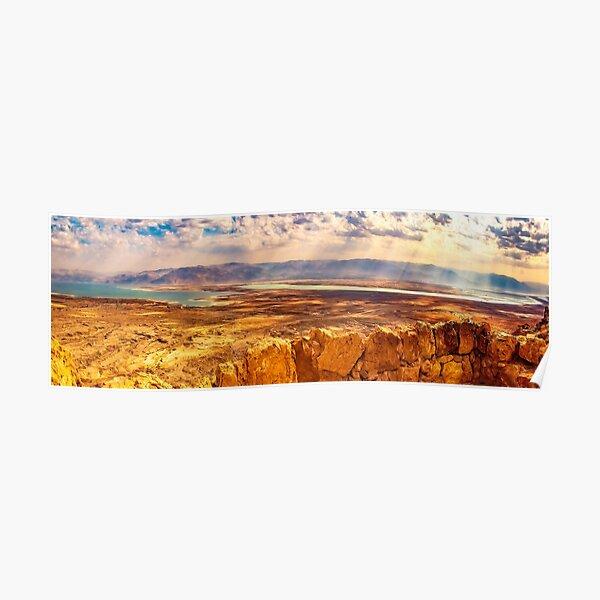 Masada and the Dead Sea Panorama Poster