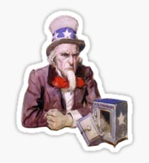 Uncle Sam with Empty Treasury Sticker
