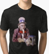 Uncle Sam with Empty Treasury Tri-blend T-Shirt