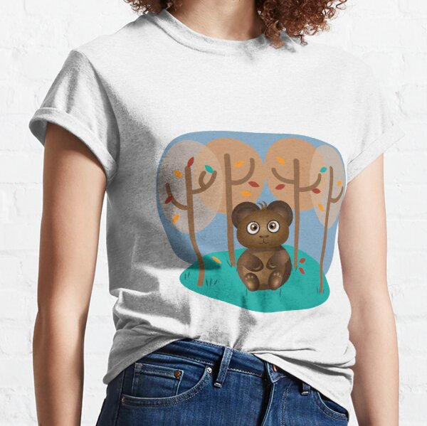 Brown Bear Sitting in the Woods Classic T-Shirt