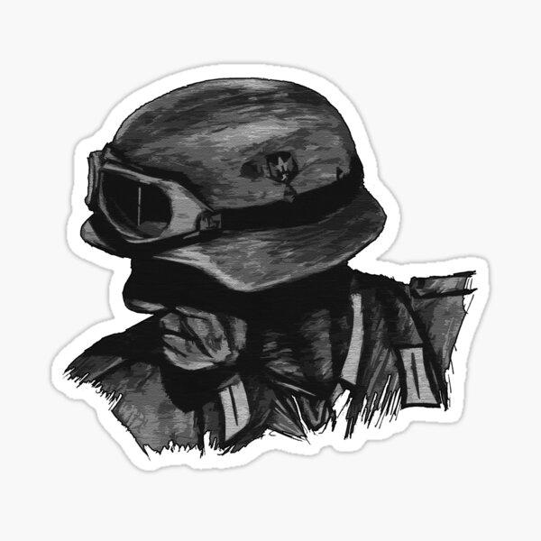 Dibujo de soldado WW2 Pegatina