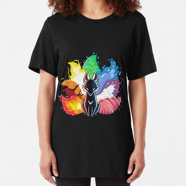 Kitsune Nine Tail fox Slim Fit T-Shirt