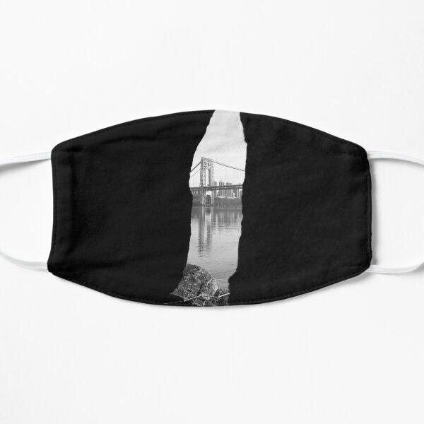 a bridge between rocks  Flat Mask