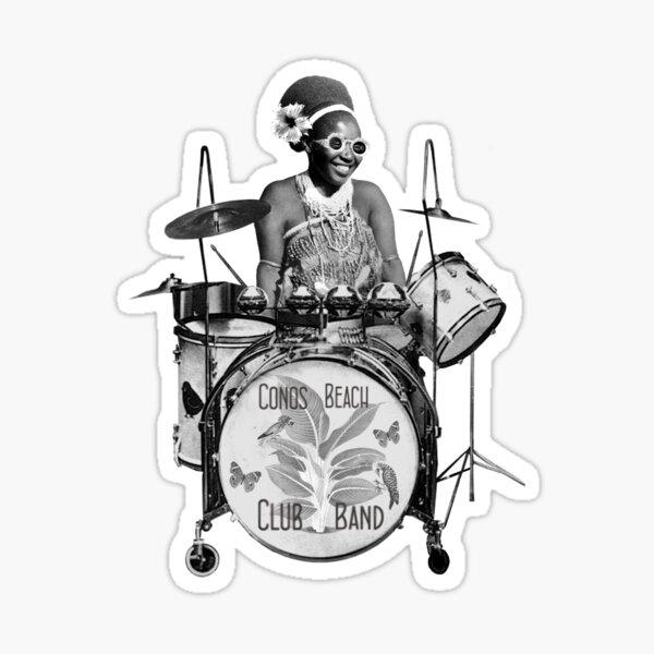 Lady Drummer Sticker