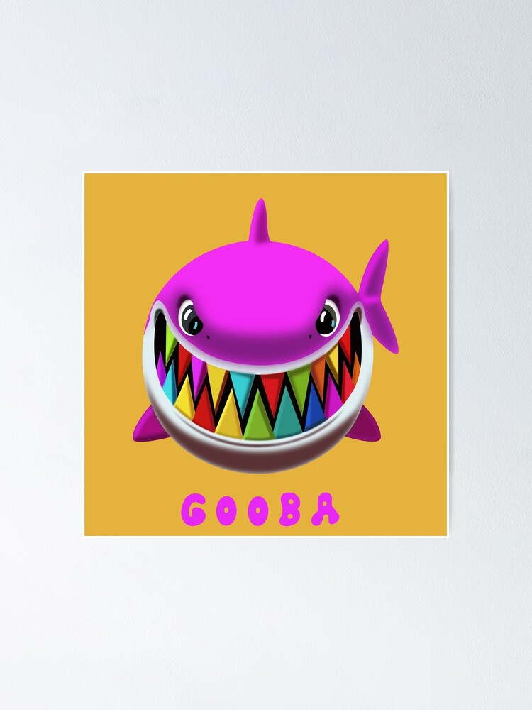 Original Design Gooba Shark 6ix9ine Tekashi Merch Trollz Poster By Alexalexk Redbubble