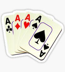 Deck of Lucky Ace Cards - Poker T-shirt Sticker Sticker