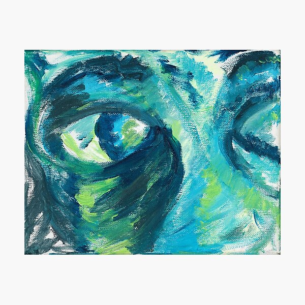 Vision, Figurative Eyes Gesture Painting by Courtney Hatcher Photographic Print