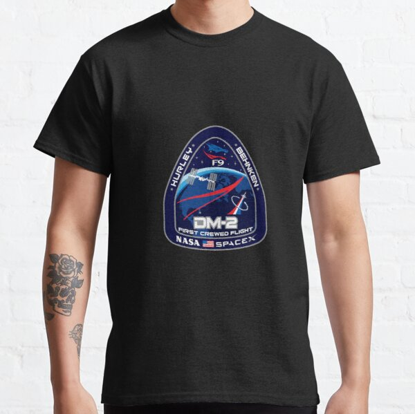 SpaceX NASA Crew Dragon DM-2 Mission Patch Classic T-Shirt