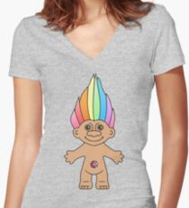 Troll Magic Women's Fitted V-Neck T-Shirt