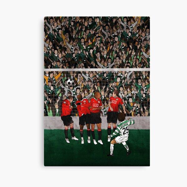 Shunsuke Nakamura vs Manchester United  Canvas Print