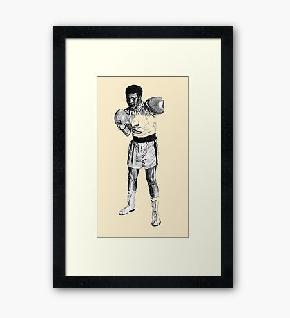 Boxing Champ M. Ali. Rumble in the Jungle Framed Print