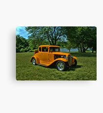 1931 Ford 5 Window Coupe Hot Rod Canvas Print