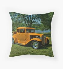 1931 Ford 5 Window Coupe Hot Rod Throw Pillow
