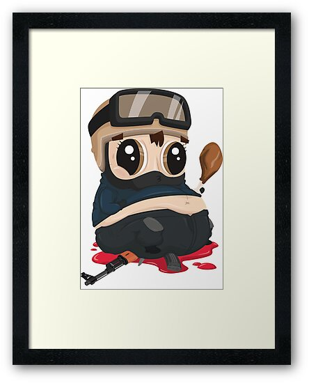 fat counter terrorist framed prints by t3cmerch redbubble