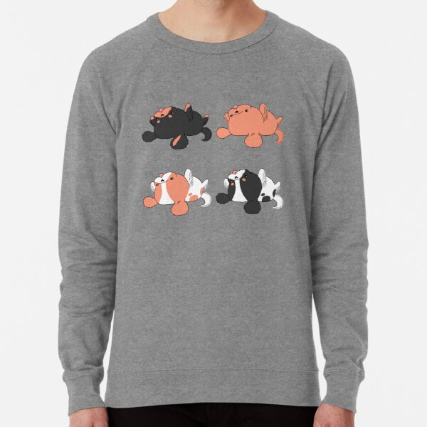 Kawaii Cavalier King Charles Spaniel - Ruby, Blenheim, Black and Tan and Tri Lightweight Sweatshirt