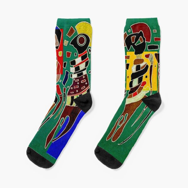"Kandinsky | ""Vier Figuren auf drei Quadraten"" | ""4 figuren auf 3 quadraten"" Socken"