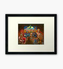 Toys Playing Uno Framed Print