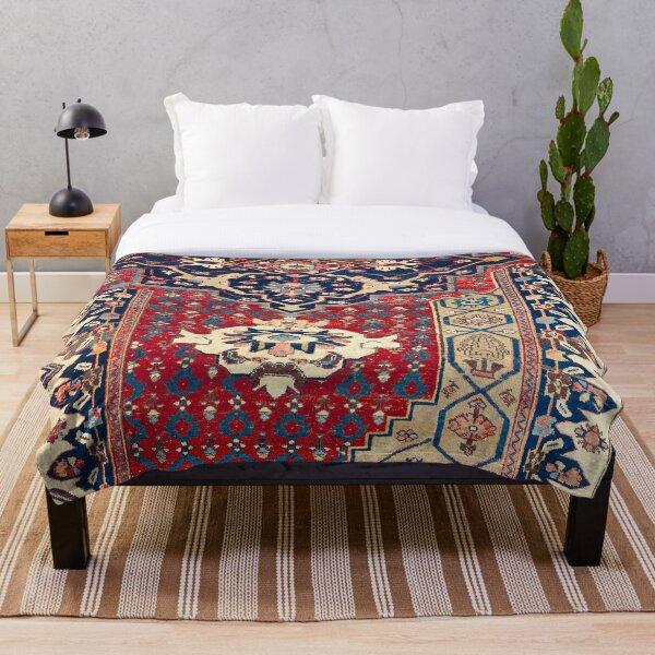 Bidjar Wagireh Northwest Persian Sampler Rug Print Throw Blanket