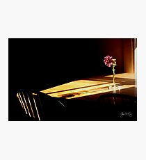 Table Flower in Window Light Photographic Print