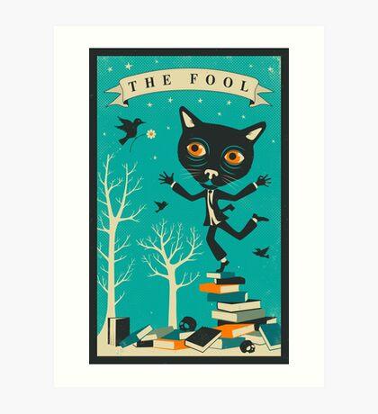 Tarot Card Cat: The Fool Art Print