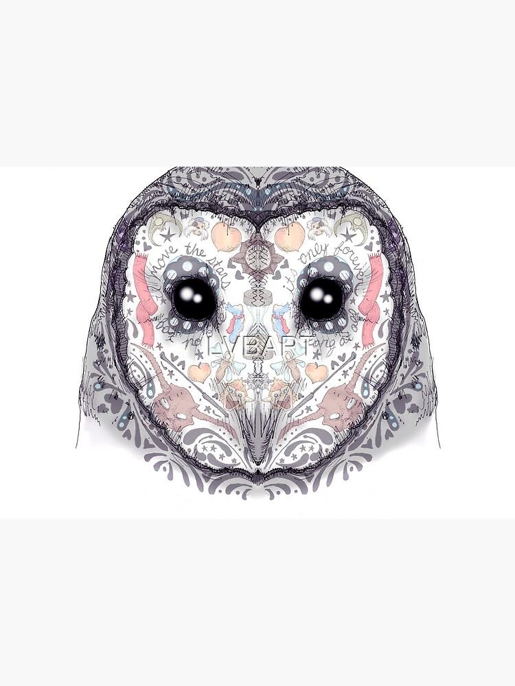Sugar Skull Labyrinth Owl by LVBART
