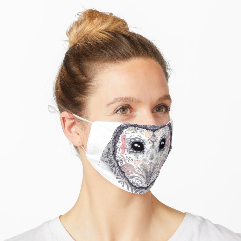 Sugar Skull Labyrinth Owl Mask