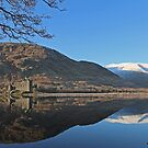 Kilchurn Castle Reflects on Loch Awe. by David Alexander Elder