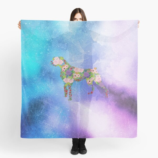 Distressed Watercolour Floral Boxer Scarf