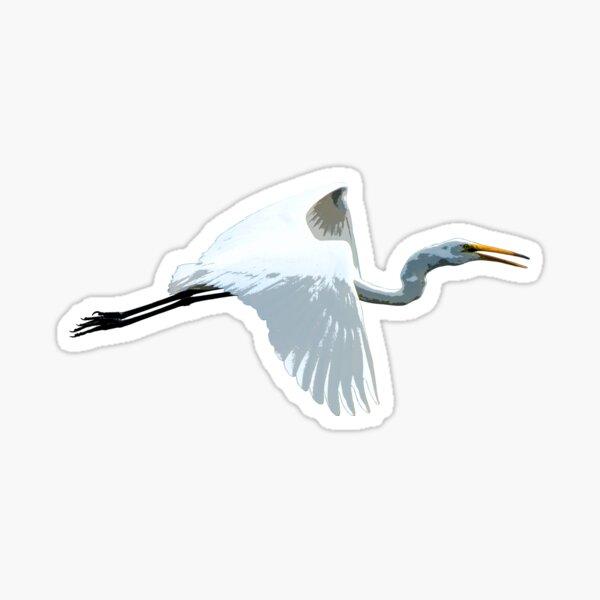 Great Egret Color Print  Sticker