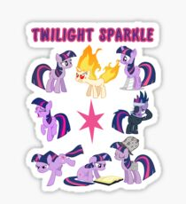 The Many Forms of Twilight Sparkle Sticker
