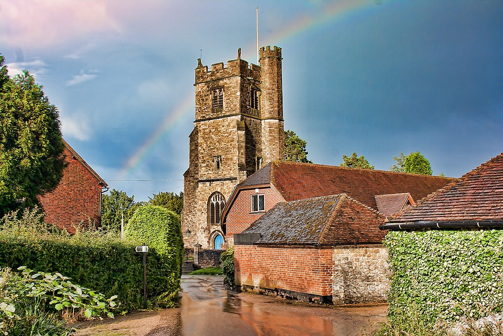 After The Storm Bearsted Church by Dave Godden