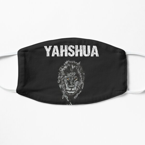 Yahshua - Hebrew Christ Lion Tribe Of Judah T-Shirt Flat Mask