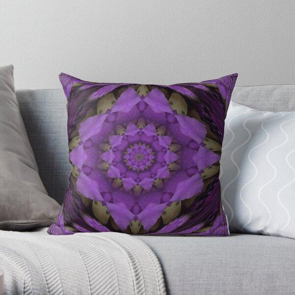 Huge purple mandala Throw Pillow