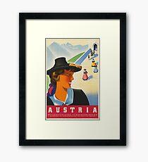 Vintage poster - Austria Framed Print