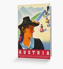 Vintage poster - Austria Greeting Card