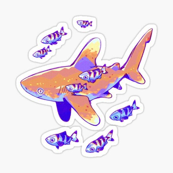 Oceanic Whitetip Anatomy Sticker