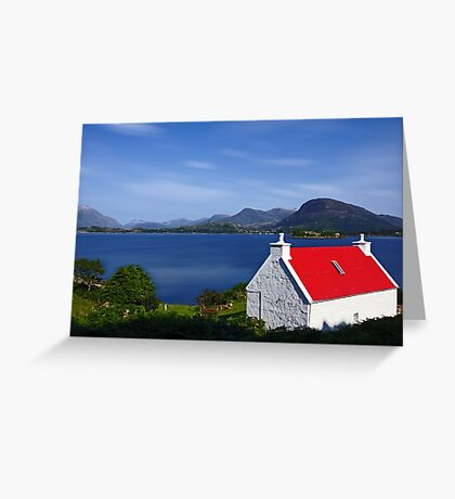 Cottage on Loch Torridon Greeting Card