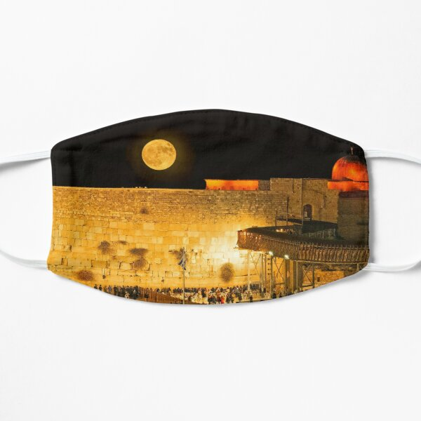 The Wailing Wall (Western Wall) in the Moonlight Flat Mask
