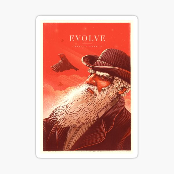 Evolve: Charles Darwin Sticker