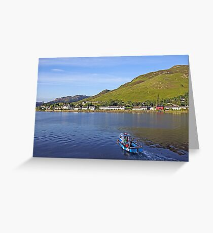 Sailing Back to Dornie Village Greeting Card
