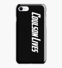 Coulson Lives (white) iPhone Case/Skin
