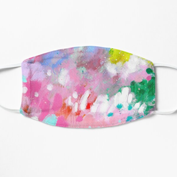 Abstract Field of Colorful Flowers Mask