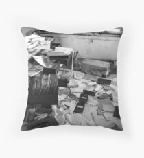 Abandoned Office Life Throw Pillow