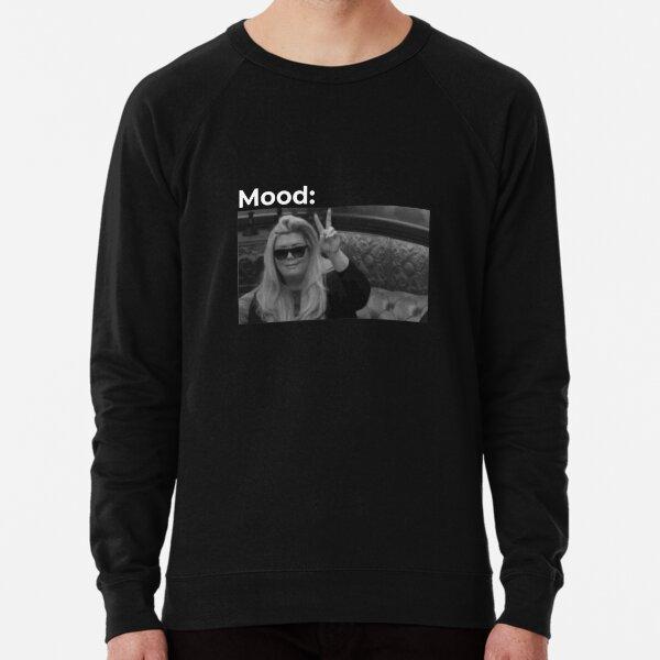Gemma Collins meme black Mood Lightweight Sweatshirt