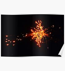 Some combustible materials exploding in the sky Poster